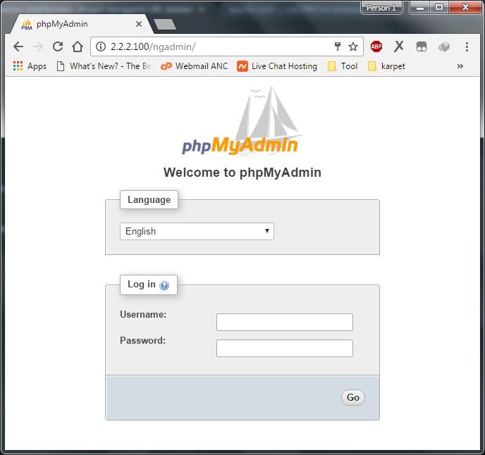 URL phpmyadmin baru