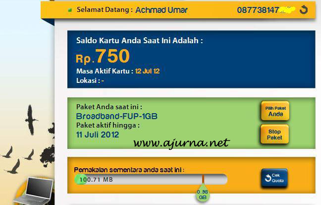 Perdana XL free unlimited 3 GB selama 3 bulan.